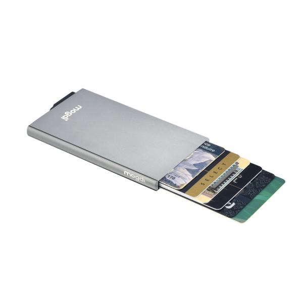 PREMIUM anthrazit grau RFID Blocker Karten Datendiebstahl Schutz Alu Kartenetui