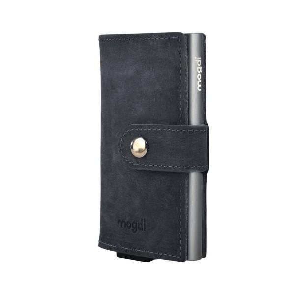 BLACK mini Männer Geldbeutel schwarz Herren Brieftasche anthrazit RFID Blocker