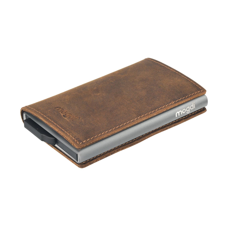 5fc8542ce7813 ... Vorschau  PREMIUM nano Brieftasche braun Herren Portmonee Kartenetui  anthrazit RFID Schutz